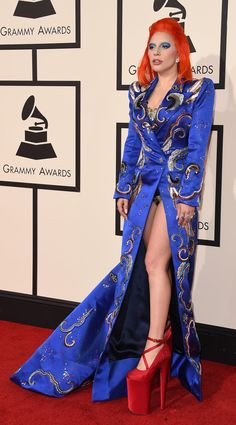 Lady Gaga in Marc Jacobs pays tribute to David Bowie at the 2016 Grammy Awards || From Adele in Givenchy to Lady Gaga in Marc Jacobs. Here, the definitive best dressed list from the 2016 Grammys.