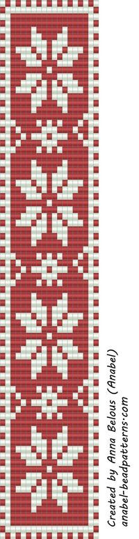 Схема браслета - станочное ткачество | - Схемы для бисероплетения / Free bead patterns -