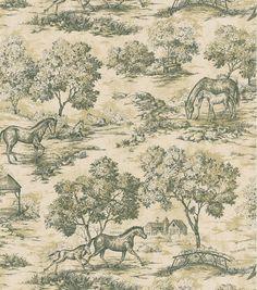 Appaloosa Black Horse Toile Wallpaper