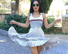How To Wear The Pleated Skirt #TrendAlert