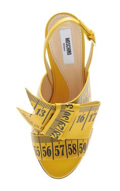 Measuring Tape Sandal by Moschino for Preorder on Moda Operandi
