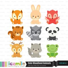 outlines of woodland creatures - Google Search