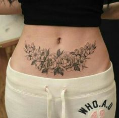 Check out ➡️drawmytattoo.us in my bio and bring your custom tattoo design idea to reality! Heart Tattoo Designs, Flower Tattoo Designs, Flower Tattoos, Lower Belly Tattoos, Stomach Tattoos Women, Tattoos To Cover Scars, Cover Tattoo, Pretty Tattoos, Beautiful Tattoos