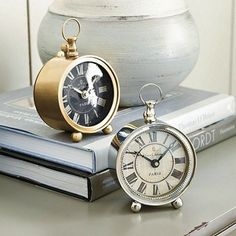 Sound the Alarm: 13 Clocks to Help You Get Out of Bed : The petite size of these metal alarm clocks ($65) — choose between brass or silver — make them great for a traditionalist living in a small space.