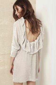 Ivory Velvet Void Dress #theforeignarchives #inspo