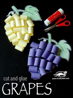 Grapes - cut and glue