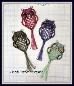 New Micro Macrame Tutorial:  A Retro Owl Pendant