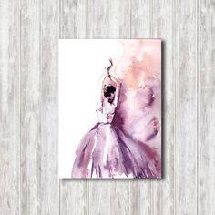 Ballerina Original Watercolor Painting Modern Ballet by CanotStop