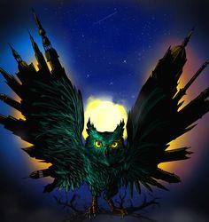 Night Owl, Balázs Varga on ArtStation at https://www.artstation.com/artwork/gwE3E