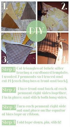 DIY tutorial: how to make bunting