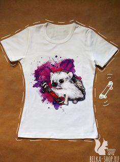 Hedgehog Skater Shirt | T-Shirt | Hedgehog accessories shirt women man shirt hipster shirt by Belkashop on Etsy