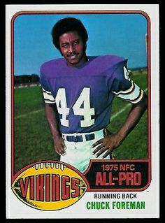1976 topps football cards | Chuck Foreman - 1976 Topps #400 - Vintage Football Card Gallery
