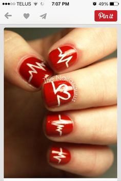 And the best sign of love is a heart, so let's make heart nail designs for Valentine's Day. Below I chose for you 21 gorgeous heart nail designs, Love Nails, How To Do Nails, Pretty Nails, Heart Nail Designs, Nail Art Designs, Nails Design, Nail Art Coeur, Nail Art 2014, Valentine Nail Art