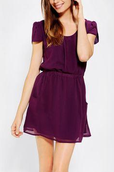 Pins and Needles Chiffon Slit-Back Dress