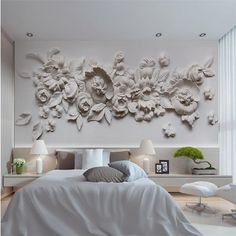 Image result for relief murals peony