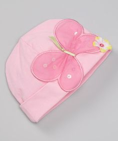 Look what I found on #zulily! Purple Tiny T Butterfly Beanie #zulilyfinds