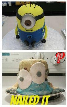 23. #gâteau du sbire - 41 #Pinterest hilarant #échoue... → #Funny