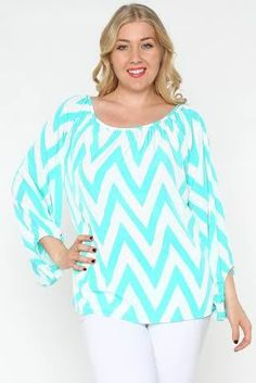 Blondellamy'Dean - Blue and White Chevron Top 3x (European size; 2x in American size), $44 (http://www.blondellamydean.com/blue-and-white-chevron-top-3x/)