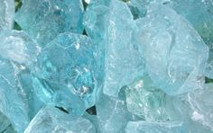 Crystal Teal Crushed Glass - Bourget Bros. Building Materials