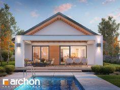 Dom pod pomarańczą (M) One Storey House, Next Bedroom, Gable Roof, Small House Design, House Roof, Floor Design, Ground Floor, Tiny House, Pergola