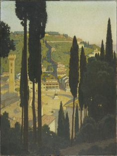 Georges Paul Leroux (1877-1957) - Vue de Fiesole - Paris, Centre Pompidou - Musée national d'art moderne -