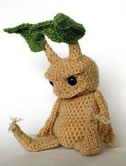 Crocheted Mandrake ====================== HE'S SO GRUMPY LOOKING!