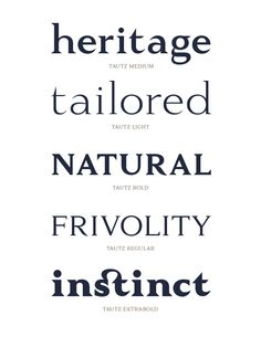 Tautz - Font Family by The Northern Block, via Behance