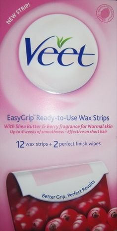 Veet wax strips use bog legs and body