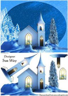 Christmas Winter Wonderland Decoupage | Craftsuprint