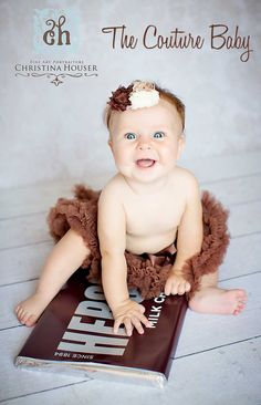 Brown Pettiskirt from The Couture Baby