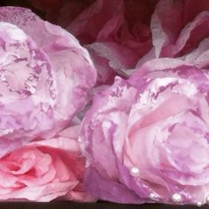 Beautiful paper flowers finished with pearls
