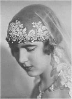 Exquisite Antique 1910 Edwardian TAMBOUR LACE Wedding Veil