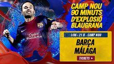 Tickets FCB - Málaga #FCBarcelona #Tickets #CampNou #Game #Match