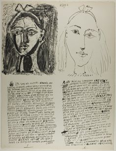 "Pablo Picasso ""Plates 5 and 6 from Poemes et Lithographies, 1949"" Art Institute of Chicago"