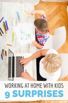 Thinking of working at home with kids in tow? Here are 9 surprises about the transition to life as a work-at-home mom.