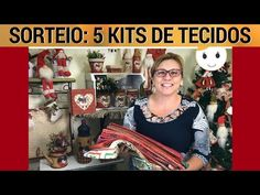 SORTEIO: 5 KITS DE TECIDOS PARA O NATAL | 13/10 AO VIVO | DRICA TV - YouTube