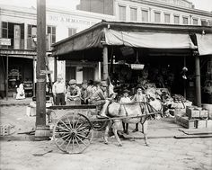 A Corner of the French Market, New Orleans, c1905, Vintage Photo