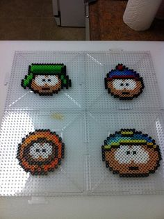South Park Perler Bead Sprite Set 4 by SDKD