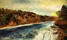 Winter River by RC deWinter