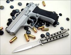 Baby desert eagle 9mm - THIS IS THE GUN I WANT ....... IF YOU EVER HOLD ONE IN YOUR HANDS, NOTHING ELSE WILL EVER FEEL RIGHT AGAIN  (it comes in 3 barrel lengths, in 3 finishes, in 10/12/or 15 shot capacity, and all of these combos come in steel or polymer frame ..... my preference is the full length barrel, with a 12 shot clip and a polymer frame ..... the weight and balance of that combo is a dream come true)