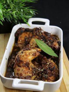 Cuisses de poulet aux raisins secs et miel - Recette de cuisine Marmiton : une recette