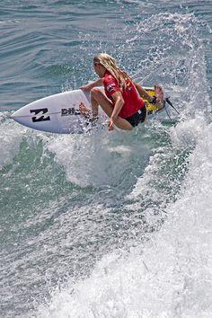 Pro Supergirl Surfing 52 Board Sideways