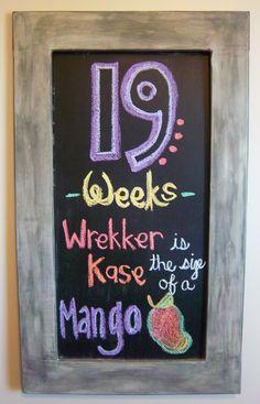 Pregnancy Chalkboard: Week 19