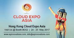 Visit Us @ Hong Kong Cloud Expo Asia 2017, 24 - 25 May 2017 at HKCEC