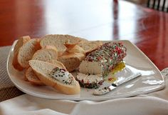 APPLE A DAY: Meatless Monday--Goat Cheese with Pink Peppercorns and Herbs