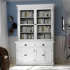 Features:  -Kiln Dried Solid Mahogany.  -Hand Finished Furniture.  -Pure White Color.  -Semi-gloss painted finish topped with a durable sealer.  -2 Units Assembly.  -Bevelled Glass.  Product Type: -Di