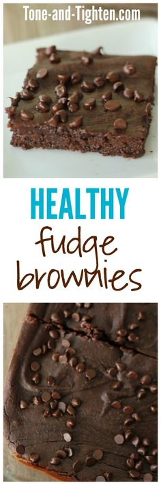 Healthy Fudge Brownies from Tone-and-Tighten.com - there is a secret ingredient in them that you would never know about!
