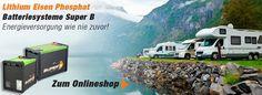 3 Batterie Lithium Super B VW  Camper Bus