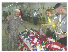 CHRISTMAS (Operation Holiday Stockings): Every year we knit, pack, and ship hundreds of Christmas stockings to troops overseas. You can either make your own stockings to send overseas, or you can donate money towards the shipping costs and the cost of the treats that we fill the stockings with. #militarysupport www.operationwearehere.com