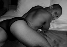 Hey Todd Sanfield.  Even you butt looks good in little black underwear!